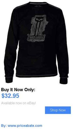 clothing And accessories: Harley-Davidson Mens Black Label Splat Long Sleeve T-Shirt - Black 30291524 BUY IT NOW ONLY: $32.95 #priceabateclothingaccessories OR #priceabate