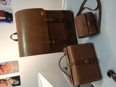 Amble range of bags by Harry Owen, all completely handmade. Stand CAA29 Camberwell College of Art