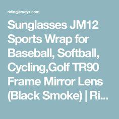 Sunglasses JM12 Sports Wrap for Baseball, Softball, Cycling,Golf TR90 Frame Mirror Lens (Black Smoke)   Riding Jerseys   Cycling and riding apparel