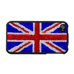 Great Britain Flag in Glitter Iphone 4 Skins