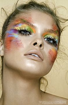 I love this sort of makeup style (not for out in public, it would look weird)!