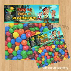 Jake and Neverland Pirates FAVOR BAG TOPPER  by Decorarteleonparty