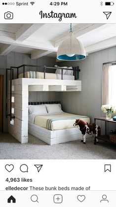 best guest room design ideas to make them feel comfortable page 6 Bunk Bed Rooms, Bunk Beds Built In, Kids Bunk Beds, Bunk Bed Ideas For Small Rooms, Modern Bedroom Design, Home Room Design, House Design, Room Ideas Bedroom, Home Bedroom