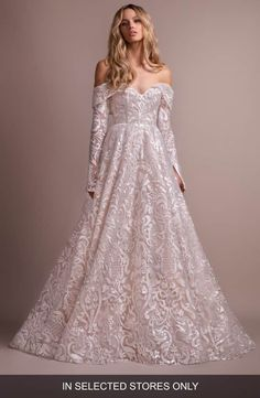 d98e38e6124 Hayley Paige Marsden lace off the shoulder White Wedding Dresses