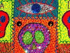 23x32 SILK Dia De Los Muertos quilt by STUCKY 2012