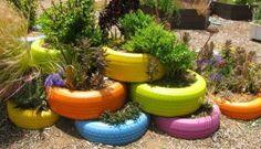 Les décos de jardin en pneus recyclés