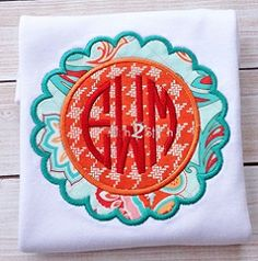 Scalloped Circle 2 Applique - 4 Sizes! | Font Frames | Machine Embroidery Designs | SWAKembroidery.com The Itch 2 Stitch