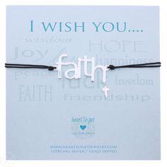Heart to Get Bracelet Sign Faith Silver Black