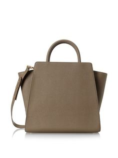 57% OFF Zac Zac Posen Women's Eartha North/South Basic Satchel, Stone