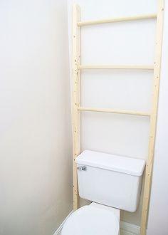 Easy Build Storage Ladder in Bathroom