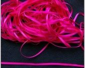 1 mètre de Ruban satin rose fuchsia 3mm ribbons : Rubans, biais pour bijoux par lilycherry
