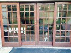 Image result for sliding cottage pane doors aluminium
