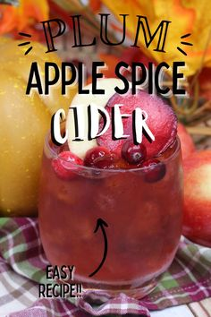 Check out this drink recipe for plum apple spice cider (or a cold toddy). It is a perfect blend of flavors for the fall season. -- mixed drinks - cocktails - home bartender - best mixed drinks - iced toddy - cold toddy - Spiced Cider, Spiced Rum, Spiced Apples, Rum Mixed Drinks, Nectar Juice, Plums Brandy, Cocktail Drinks, Cocktails, Fruit Slice
