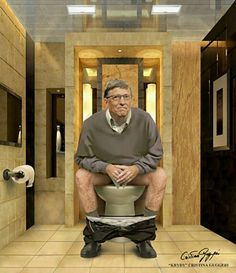 Bill Gates Cartoon Faces, Cartoon Characters, Old Pictures, Funny Pictures, Toilet Art, Peaceful Life, Bill Gates, Portraits, My Best Friend