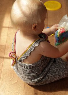 This adorable baby dress is a free pattern (with lots of cute photos) from the Bethsco Blog.
