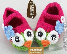 Baby crochet Cotton owl shoes infant soft booties shoes animal knitting shoes-in First Walkers from Shoes on Aliexpress.com