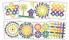 printable mosaic card - Cerca con Google