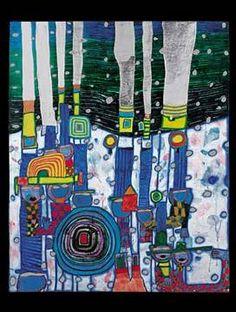 690 Green Power, 1972 by Friedensreich Hundertwasser. Friedensreich Hundertwasser, Modern Art, Contemporary Art, Art Et Architecture, Art Sur Toile, Art Carte, Art Ancien, Inspiration Art, Norman Rockwell