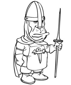Knights Coloring Pages 4