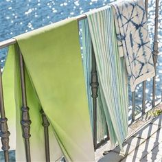 Our beloved Padua shaded ombre is re-imagined for outdoor use digitally printed onto a robust exterior use canvas. Make a statement for your outside space Wallpaper Decor, Wallpaper Samples, Fabric Wallpaper, Designers Guild, Made To Measure Curtains, Curtain Designs, Mold And Mildew, Curtain Fabric, Outdoor Fabric