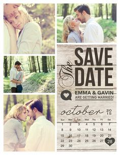 Save The Date Magnet Card or Postcard . Modern by MidwestDesign