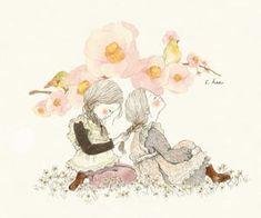 We Heart It, Heart Sign, Et Wallpaper, Love My Sister, Illustration, Sweet Notes, Pastel Art, Korean Artist, Whimsical Art