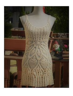 Venta: Vestido de Crochet playa / abierto de nuevo / Beachwear