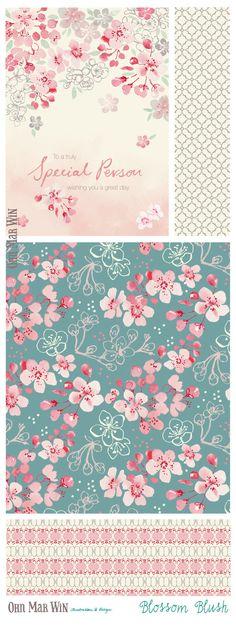 EVERYDAY designs — Ohn Mar Win Illustration Spring blossom Pattern