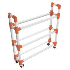 The Athletic Ball Storage Rack is an ideal solution for storing basketballs, soccer balls, and other athletic equipment in a neat, organized and transportable manner.