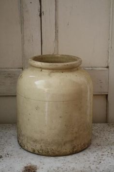 Old Cream Stoneware...crock.