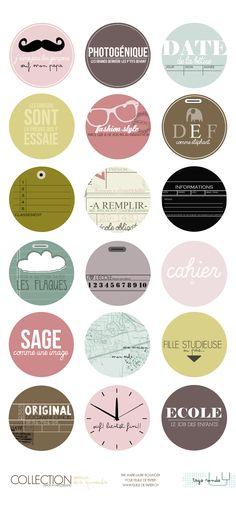 MATERIEL > Papiers & Accesoires > Papiers Marie-Laure Bollinger pour FDP > Marre des épinards > Feuille à tags ronds (Marre des épinards) - Feuille de papier - Kits en ligne