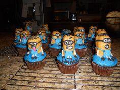 Despicable Me Minions as cupcakes