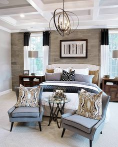 Modern Chic Master Bedroom by Grace R (@lovefordesigns)