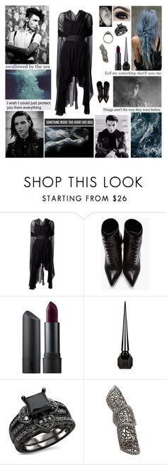 """""""✘ Mayday, mayday. This is an emergency. Mayday, mayday. You've gotta let me leave. I'm laying here, inches away. But you can't hear me call mayday. Oh, the weight will make us sink. Could you please help me leave? Abandon ship with me. ✘"""" by blueknight ❤ liked on Polyvore featuring Louiza Babouryan, Yves Saint Laurent, Too Faced Cosmetics, Bite, Christian Louboutin and Loree Rodkin"""