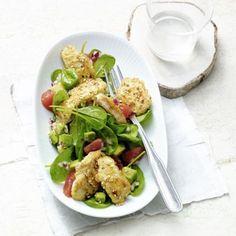 Wir präsentieren: unseren Superstar am Salat-Himmel. Die Kombi aus Avocado, Grapefruit und Hähnchenbrustfilet steht in nur 25 Minuten auf dem Tisch.