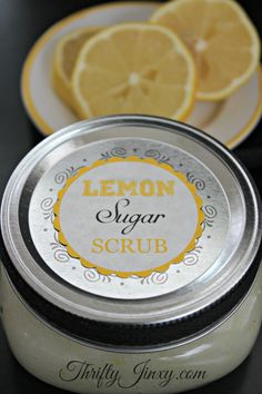Lemon Sugar Scrub Recipe - DIY Gift Idea - Thrifty Jinxy