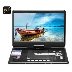 15.4 Inch Large Screen DVD Player - 1366x768 Resolution Region Free DVD Game TV Radio Copy Function