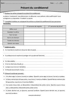 Conditionnel présent - Cm2 - Exercices corrigés - Pass Education