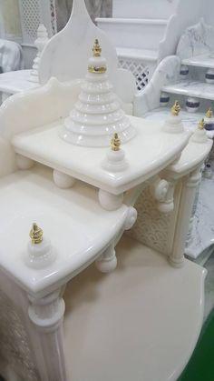 Mandirs – Marbonex Temple Design For Home, Mandir Design, Pooja Mandir, Pooja Room Door Design, Temple Architecture, Puja Room, Bohemian Bedroom Decor, Stone Crafts, New Beds