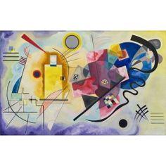 'Gelb-Rot-Blau' by Kandinsky Graphic Art East Urban Home Wassily Kandinsky, Blue Poster, Poster S, Poster Prints, Kids Poster, Canvas Art, Canvas Prints, Art Prints, Blue Artwork