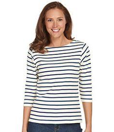 #LLBean: French Sailor's Shirt, Three-Quarter-Sleeve Boatneck (still needing a Breton stripe intervention)