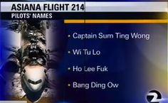 Punked TV Station Fires Producers Over Bogus Asiana Pilot Names