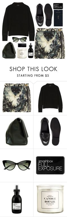 """Bird"" by mariimontero ❤ liked on Polyvore featuring Balmain, Belstaff, ASOS, Yves Saint Laurent, Smashbox, Davines, H&M and NARS Cosmetics"