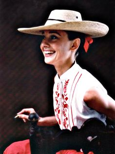 Audrey Hepburn during the production of The Unforgiven, Durango, Mexico, 1960