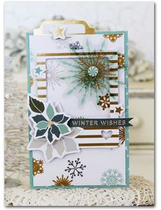 Winter Wishes Card by Melissa Phillips     Supplies:       Merry & Bright Dancing Reindeer Paper by Fancy Pants Merry & Bright Ep...
