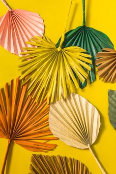 Paper palm leaves for Palm Sunday 🍃 Paper Flowers Diy, Diy Paper, Paper Art, Paper Palm Tree, Deco Jungle, Little Green Notebook, Palm Tree Leaves, Deco Boheme, Paper Leaves