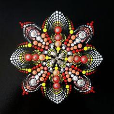 Mandala love ❤ Dot Art Painting, Mandala Painting, Painting Patterns, Stone Painting, Mandala Painted Rocks, Mandala Rocks, Mandala Canvas, Mandala Art, Mandala Pattern