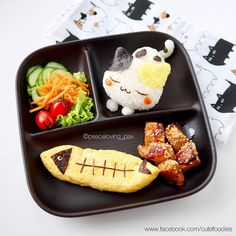 Kitty Cat sushi & fish lunch by Pax❤️Cute Food (@peaceloving_pax)