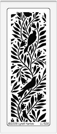 print spoon bookmark keychain Quietfire Design :: Dreamweaver Stencils :: Stencils :: Birds and Branches Stencil (LL)