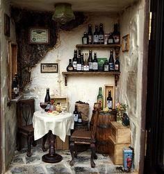 Miniature wine shop